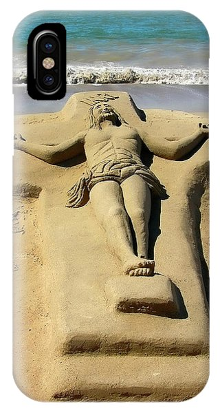Jesus Sand Sculpture IPhone Case
