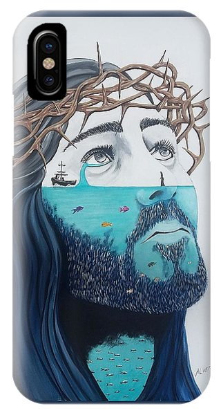 Jesus Walks On The Water IPhone Case