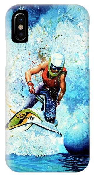 Jet Ski iPhone X Case - Jet Blue by Hanne Lore Koehler