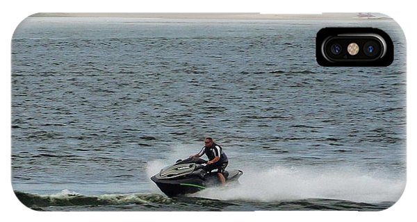Jet Ski iPhone Case - Jet Ski Lbi New Jersey by Sean  Devlin