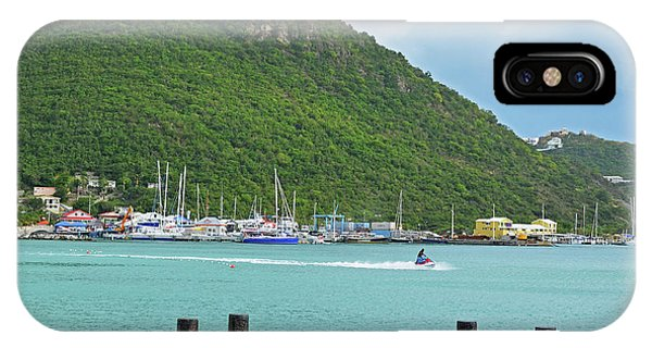 Jet Ski iPhone Case - Jet Ski On The Lagoon Caribbean St Martin by Toby McGuire