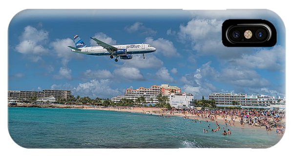 jetBlue at St. Maarten IPhone Case