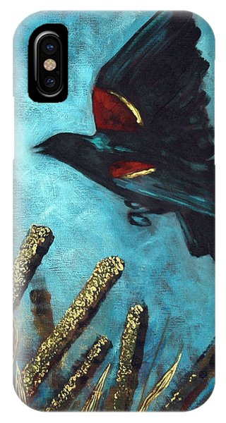 Jewel Among The Cattails IPhone Case