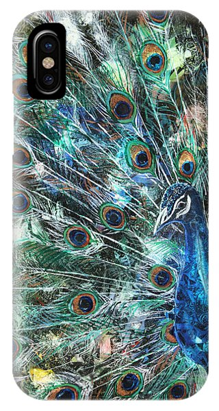 Peacocks iPhone Case - Jeweled by Patricia Allingham Carlson