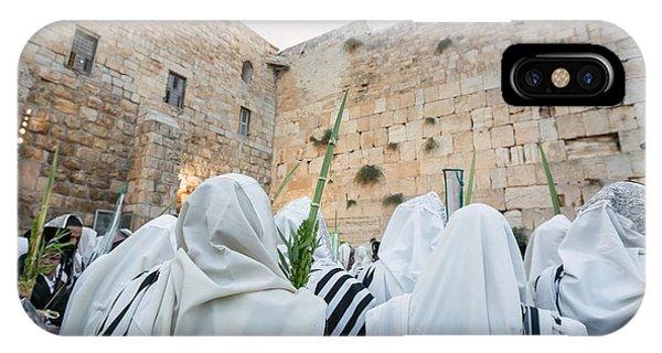 Jewish Sunrise Prayers At The Western Wall, Israel 10 IPhone Case