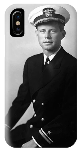 Pig iPhone Case - Jfk Wearing His Navy Uniform Painting by War Is Hell Store