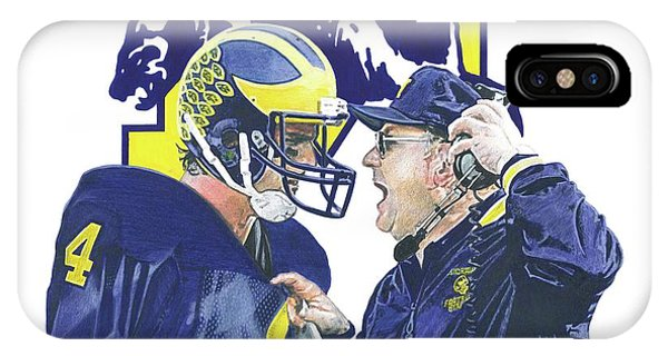 Jim Harbaugh And Bo Schembechler IPhone Case