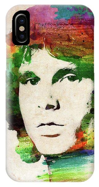 Jim Morrison Colorful Portrait IPhone Case