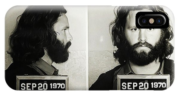IPhone Case featuring the photograph Jim Morrison Mugshot by Digital Reproductions