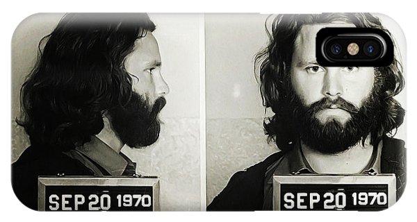 Jim Morrison Mugshot IPhone Case