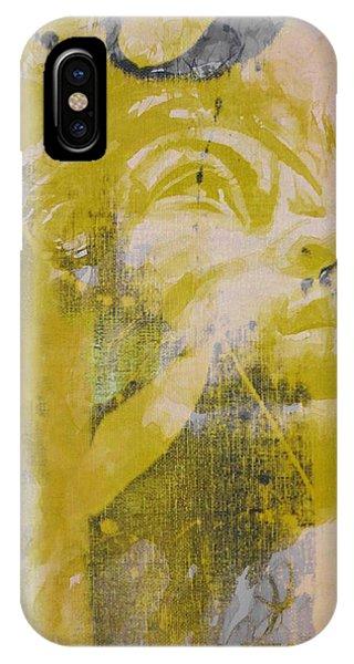 Seattle iPhone X Case - Jimi Hendrix Art  by Paul Lovering