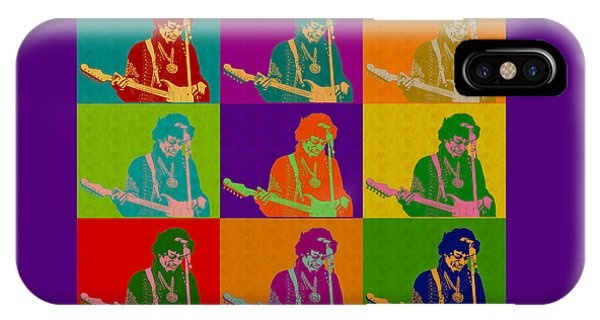 Jimi Hendrix In The Style Of Andy Warhol IPhone Case