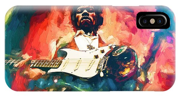 Voodoo iPhone Case - Jimi Hendrix  by Louis Ferreira