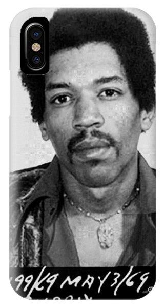 Jimi Hendrix Mug Shot Vertical IPhone Case