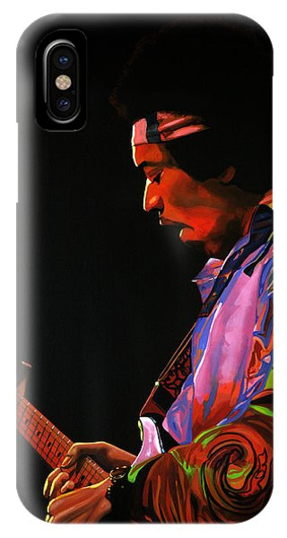 Knight iPhone Case - Jimi Hendrix 4 by Paul Meijering