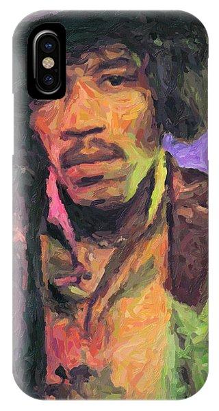 Guitar Legends iPhone Case - Jimi Hendrix Painting by Zapista