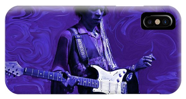 Electric Guitar iPhone Case - Jimi Hendrix Purple Haze by David Dehner