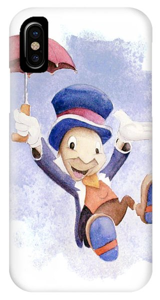 Insect iPhone Case - Jiminy Cricket With Umbrella by Andrew Fling