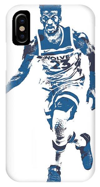 Tickets iPhone Case - Jimmy Butler Minnesota Timberwolves Pixel Art 5 by Joe Hamilton