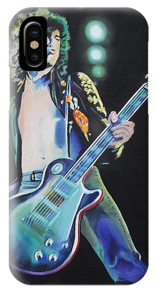 Rock And Roll Jimmy Page iPhone Case - Jimmy Page by Cecilia Brendel