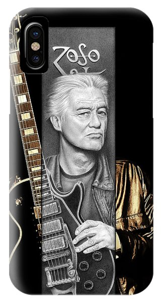 Jimmy Page iPhone Case - Jimmy Page Drawing by Jeffrey St Romain