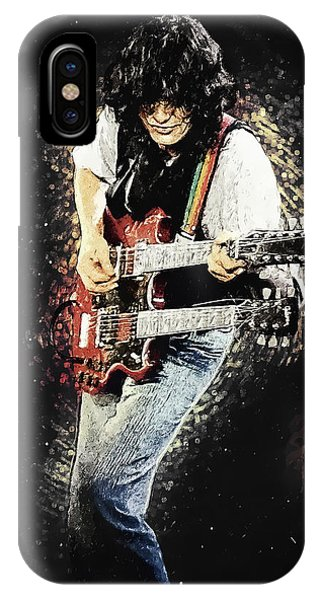 Rock And Roll Jimmy Page iPhone Case - Jimmy Page II by Zapista Zapista