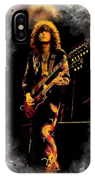 Rock And Roll Jimmy Page iPhone Case - Jimmy Page by Karl Knox Images