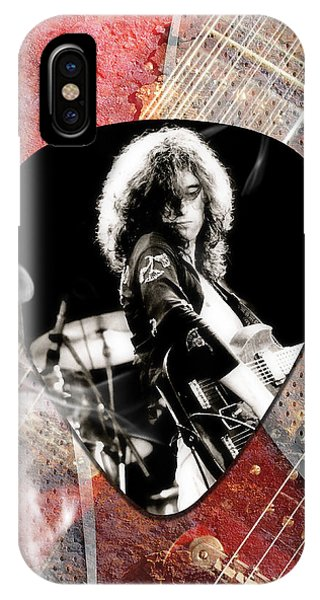 Jimmy Page iPhone Case - Jimmy Page Led Zeppelin Art by Marvin Blaine