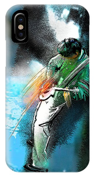 Rock And Roll Jimmy Page iPhone Case - Jimmy Page Lost In Music by Miki De Goodaboom