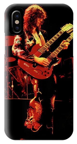 Rock And Roll Jimmy Page iPhone Case - Jimmy Page by Michael Payne