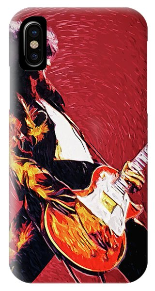 Rock And Roll Jimmy Page iPhone Case - Jimmy Page  by Zapista Zapista
