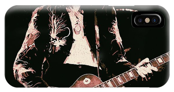 Rock And Roll Jimmy Page iPhone Case - Jimmy Page - You Shook Me  by Andrea Mazzocchetti