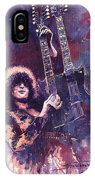 iPhone Case - Jimmy Page  by Yuriy Shevchuk