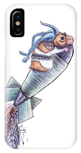 Hamster iPhone Case - Jinx by Cecille Gagne
