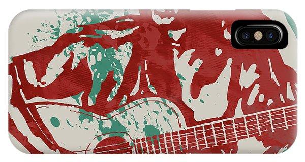 Strum iPhone Case - Joan Baez Strumming Pop Stylised Art Sketch Poster by Kim Wang