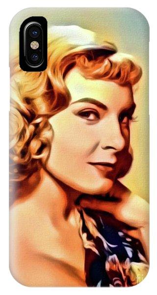 Joanne Woodward, Vintage Actress. Digital Art By Mb IPhone Case