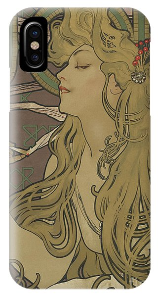 Blond iPhone Case - Job Vintage Poster by Alphonse Marie Mucha