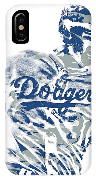 fb83f6d061f Los Angeles Dodgers iPhone Case - Joc Pederson Los Angeles Dodgers Pixel Art  10 by Joe