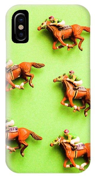 Quick iPhone Case - Jockeys And Horses by Jorgo Photography - Wall Art Gallery