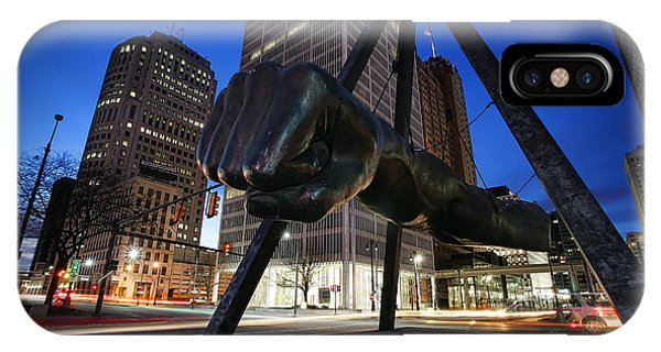 Joe Louis Fist Statue Jefferson And Woodward Ave. Detroit Michigan IPhone Case