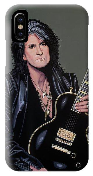 Steven Tyler iPhone Case - Joe Perry Of Aerosmith Painting by Paul Meijering