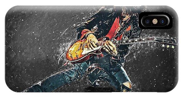 Steven Tyler iPhone Case - Joe Perry by Taylan Apukovska