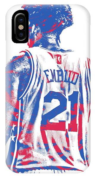 Tickets iPhone Case - Joel Embiid Philadelphia Sixers Pixel Art 11 by Joe Hamilton