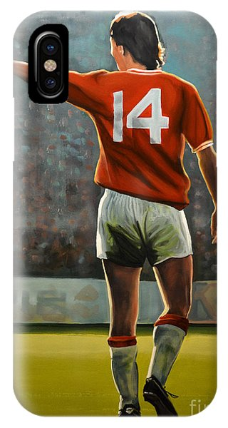 Or iPhone Case - Johan Cruyff Oranje Nr 14 by Paul Meijering
