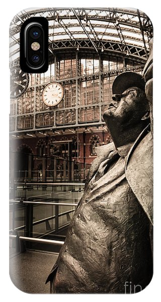 John Betjeman And Dent Clockat St Pancras Railway Station IPhone Case