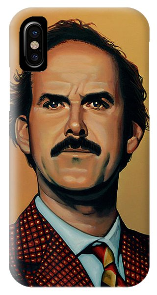 Portraits iPhone X Case - John Cleese by Paul Meijering