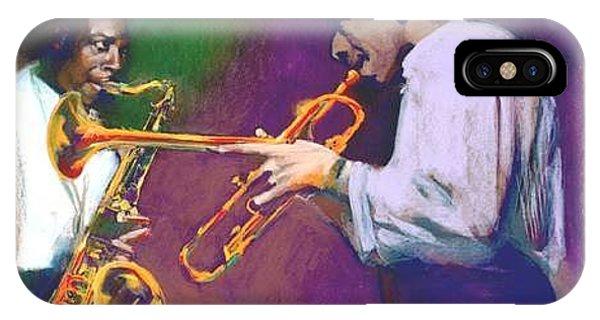 John Coltrane- Lee Morgan Horn Play IPhone Case