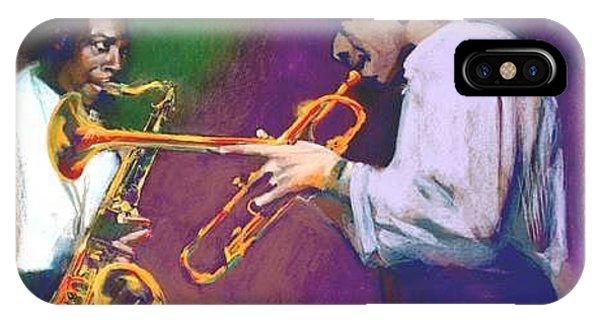 Horn Play - John Coltrane - Lee Morgan  IPhone Case