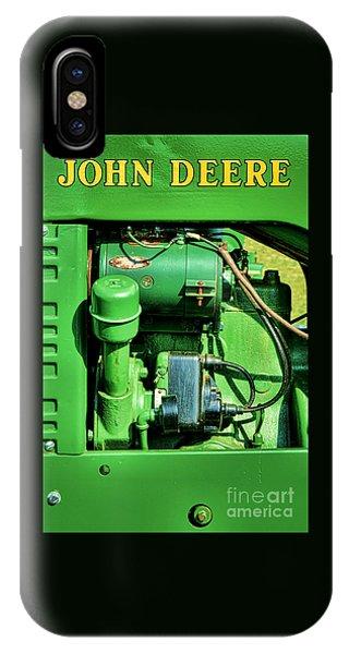 John Deere Tractor Engine Detail IPhone Case