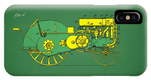 Farm iPhone Case - John Deere Tractor Patent by Mark Rogan